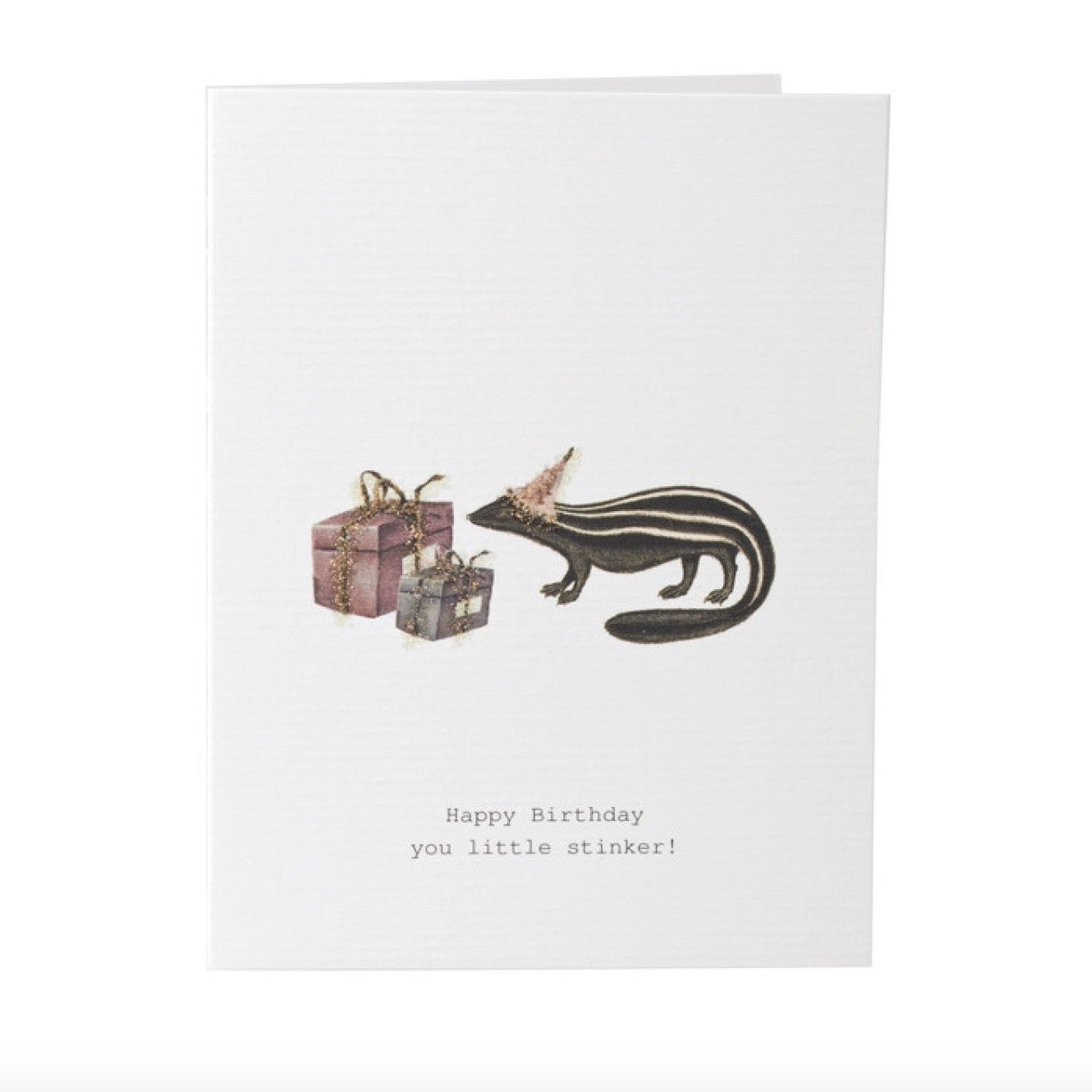 "Tokyo Milk ""Happy Birthday You Little Stinker"" Skunk Card, TM-Tokyo Milk, Putti Fine Furnishings"