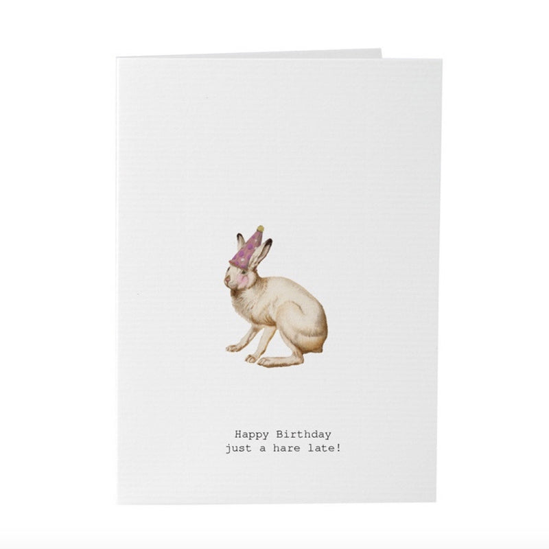 "Tokyo Milk ""Happy Birthday ...just a Hare late"" Belated Birthday Card, TM-Tokyo Milk, Putti Fine Furnishings"