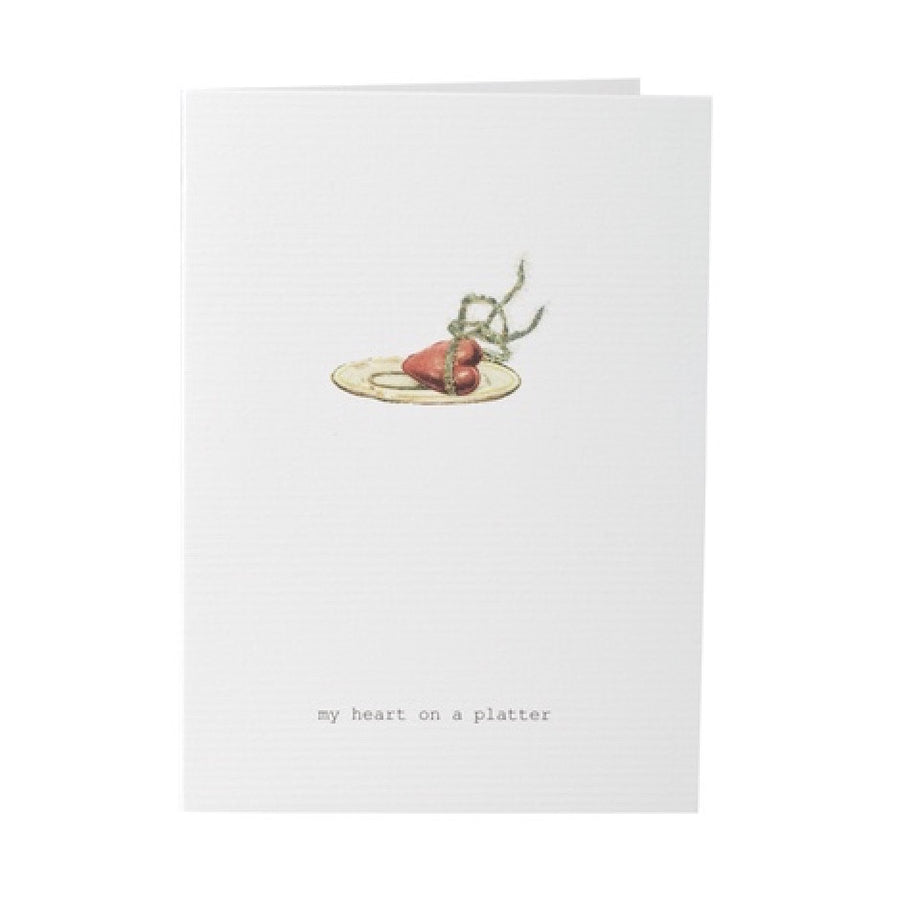 "Tokyo Milk ""My heart on a platter"" Greeting Card"