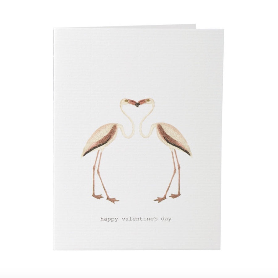 "Tokyo Milk ""Happy Valentine's Day"" Flamingo Love Birds Card"