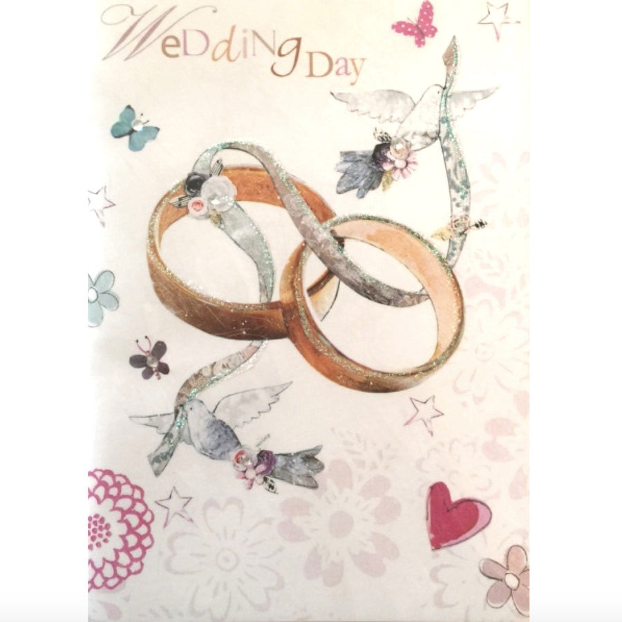 """Wedding Day"" Pair of Rings Card"