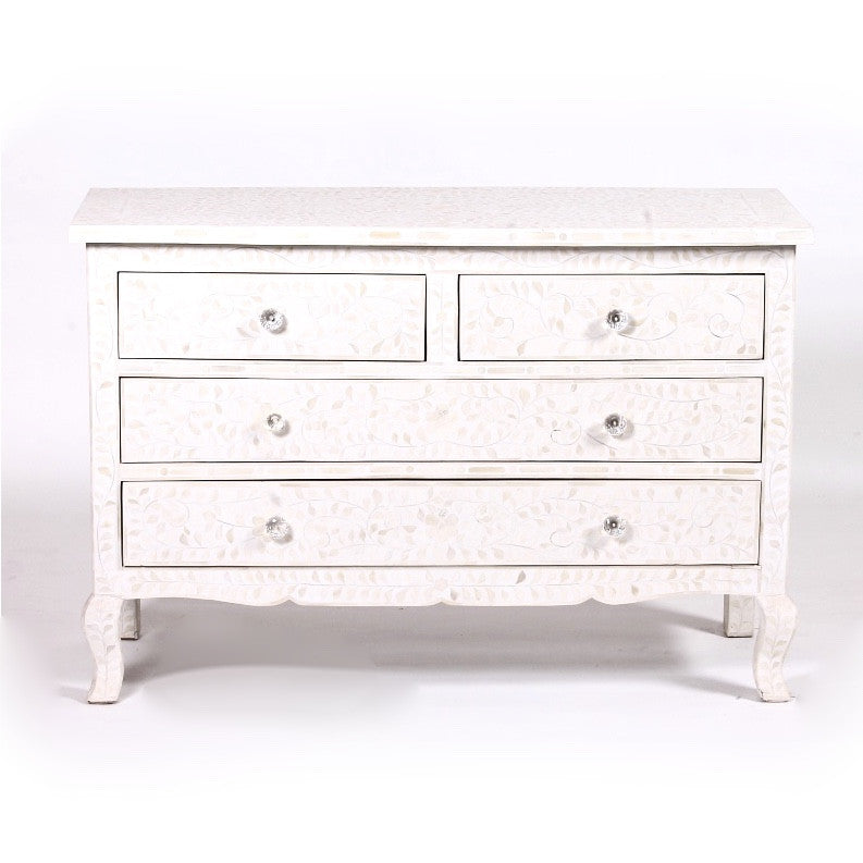 Bone Inlay Chest of Drawers - White, BI-Bethel International, Putti Fine Furnishings