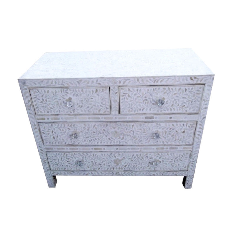 Mother of Pearl Dresser - White, BI-Bethel International, Putti Fine Furnishings