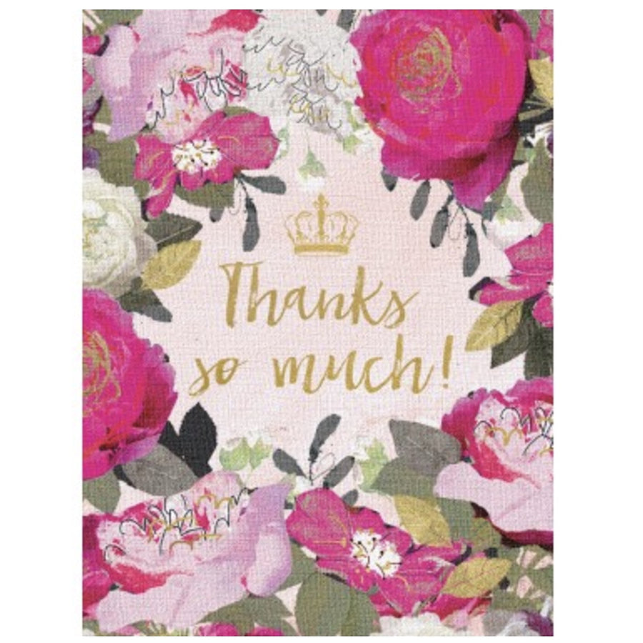 """Thanks so Much"" Box Note Cards"