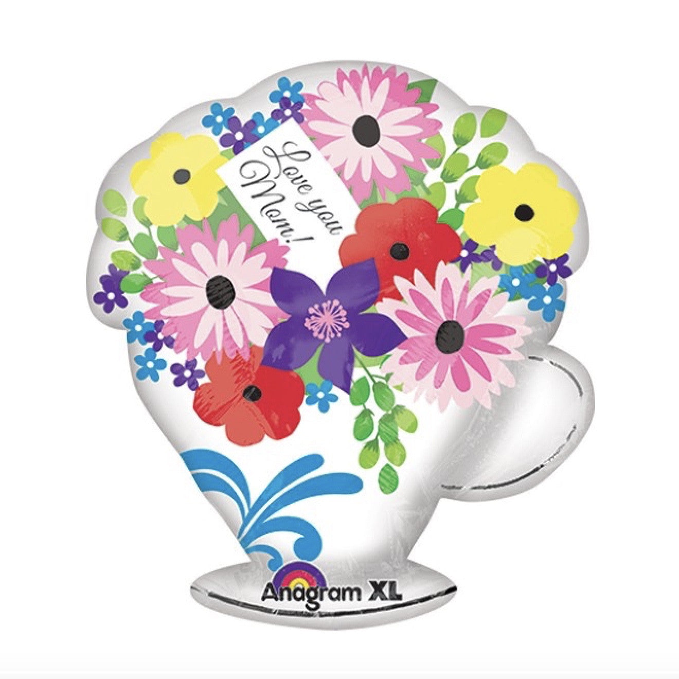"""Love You Mom"" Teacup Flower Balloon, SE-Surprize Enterprize, Putti Fine Furnishings"