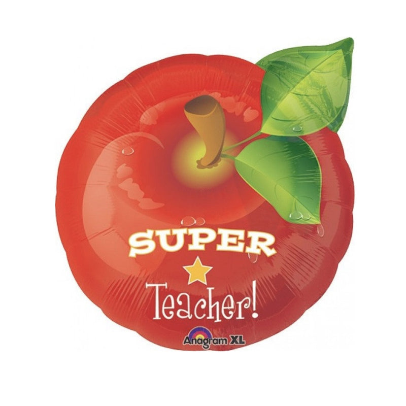 """Super Teacher"" Apple Foil Balloon, SE-Surprize Enterprize, Putti Fine Furnishings"