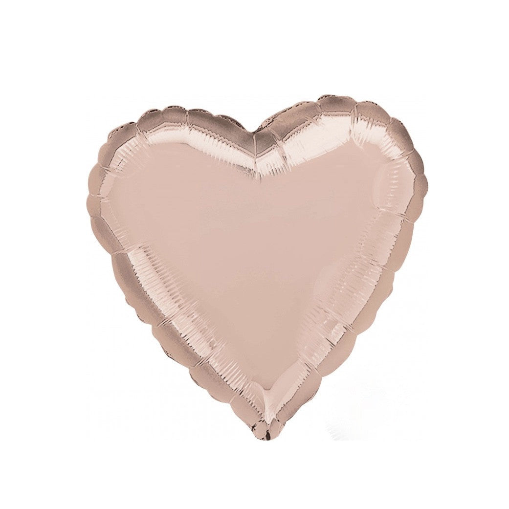 Rose Gold Mylar Heart Balloon, SE-Surprize Enterprize, Putti Fine Furnishings