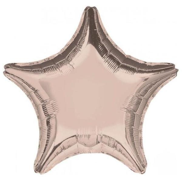 Rose Gold Mylar Star Balloon, SE-Surprize Enterprize, Putti Fine Furnishings
