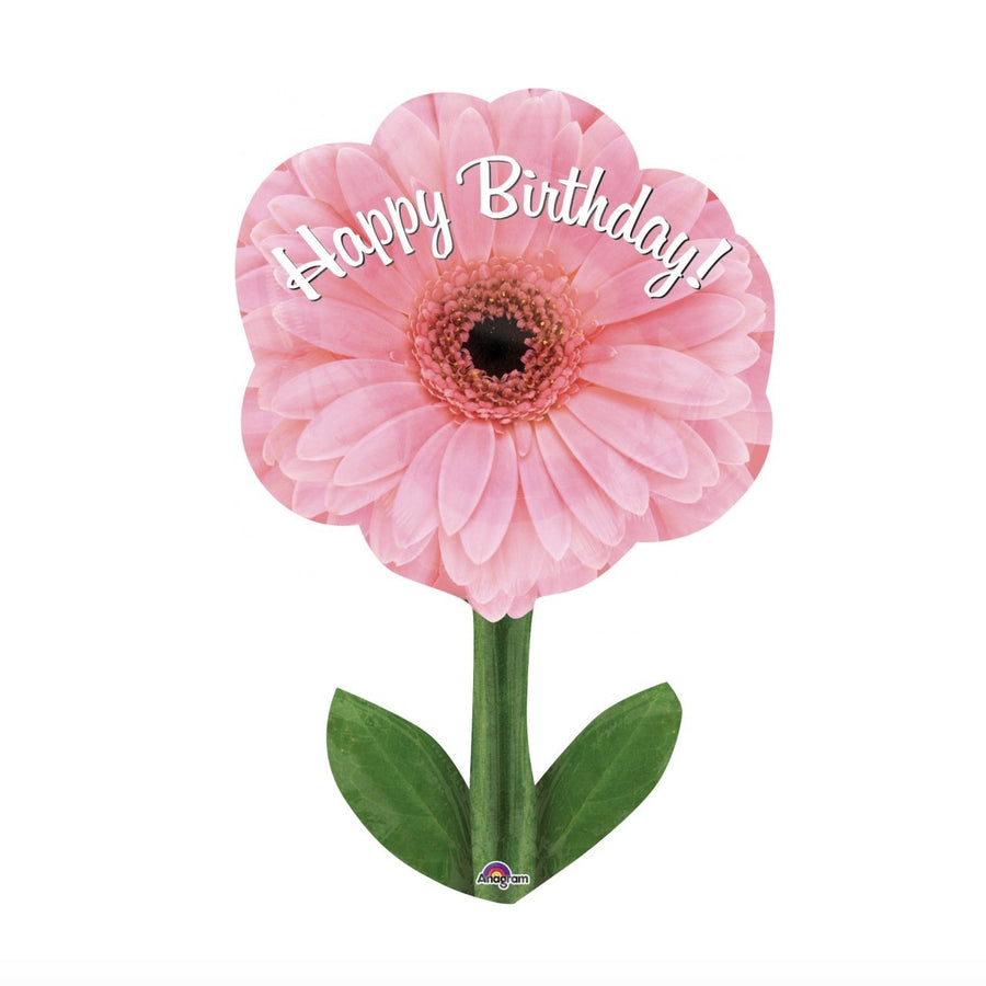 """Happy Birthday"" Pink Daisy Balloon"