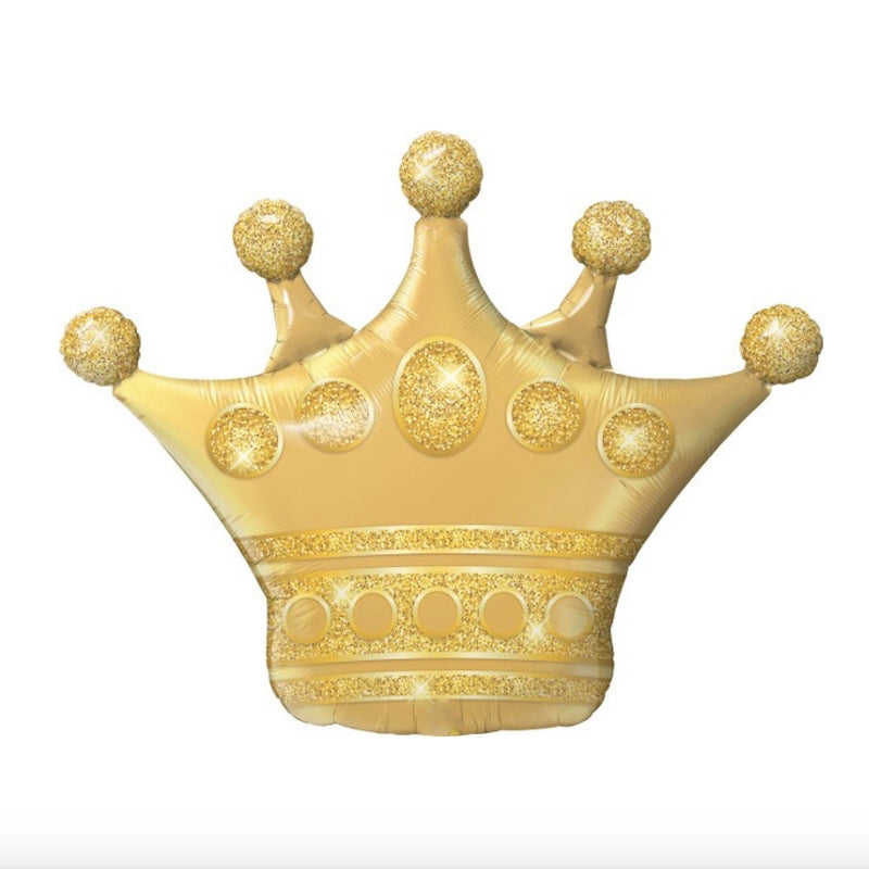 Large Golden Crown Balloon-Party Supplies-SE-Surprize Enterprize-Balloon-Putti Fine Furnishings