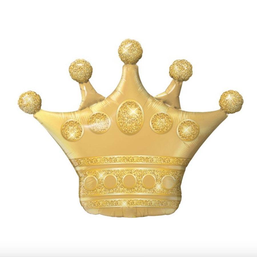 Large Golden Crown Balloon