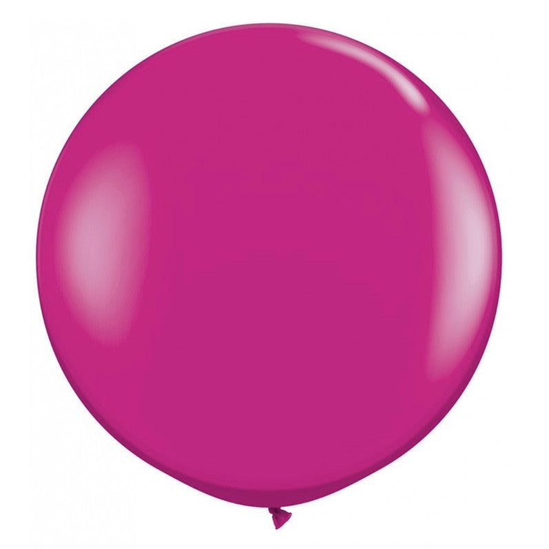 "Giant Round Balloon 36""- Wild Berry"