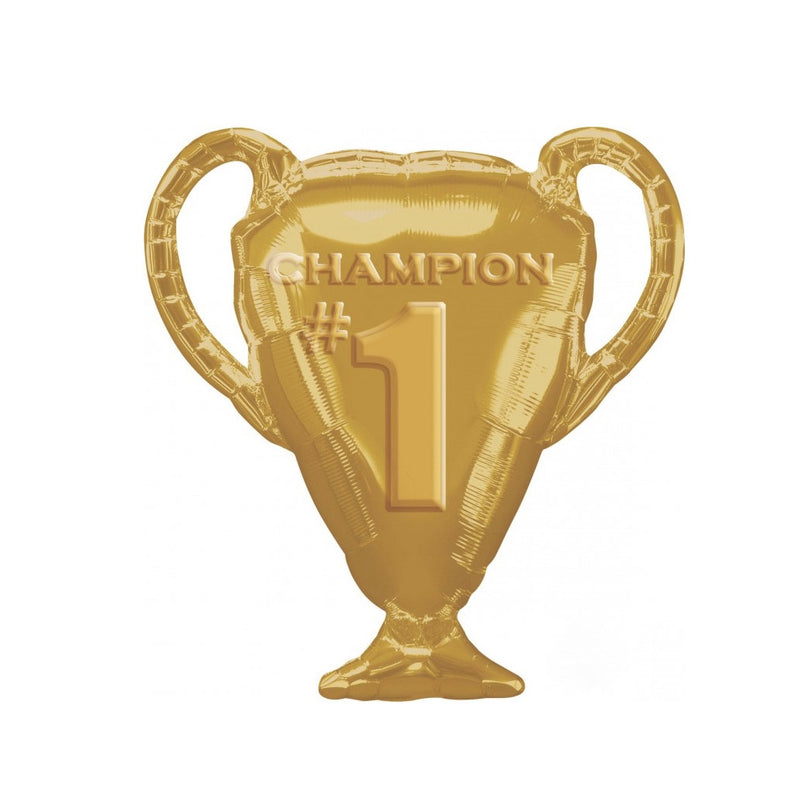 Anagram Gold Trophy Mylar Balloon - Le Petite Putti Party Canada