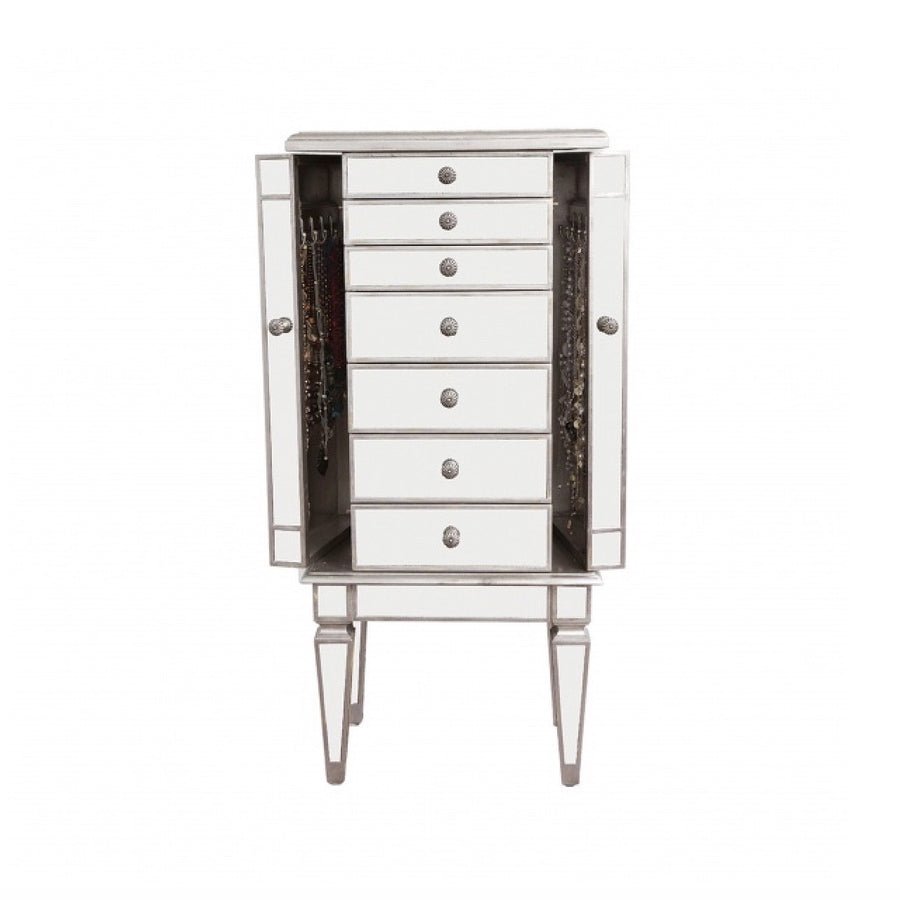Tall Mirrored Jewellery Chest, BI-Bethel International, Putti Fine Furnishings