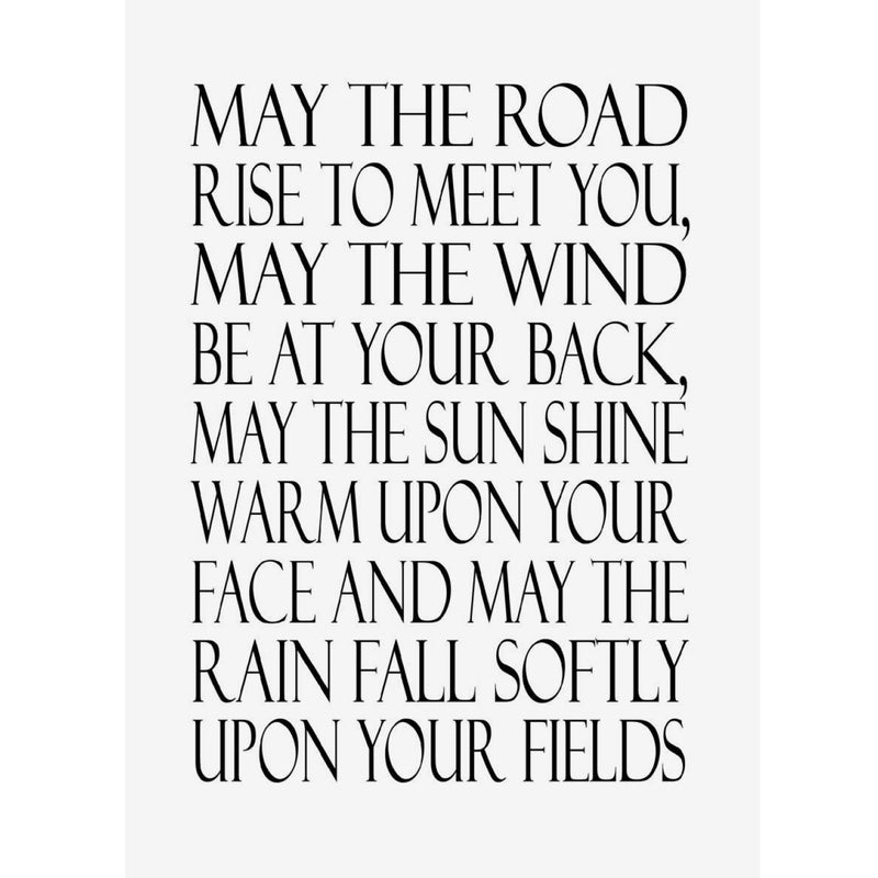 """May the road rise to meet you..."" Greeting Card, JE-Jannex Enterprises, Putti Fine Furnishings"