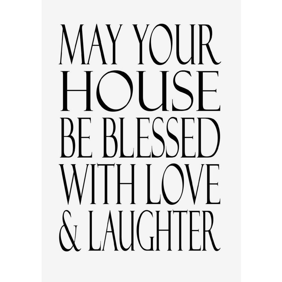"""May your house be blessed..."" Greeting Card"