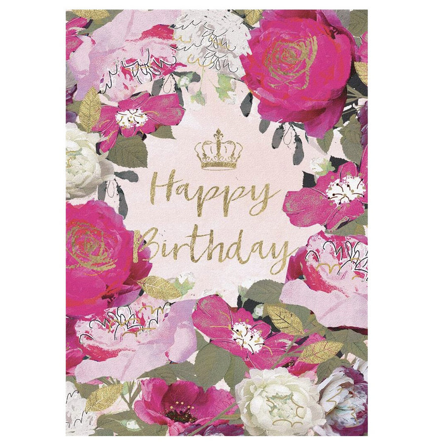 """Happy Birthday"" Botanical Greeting Card"