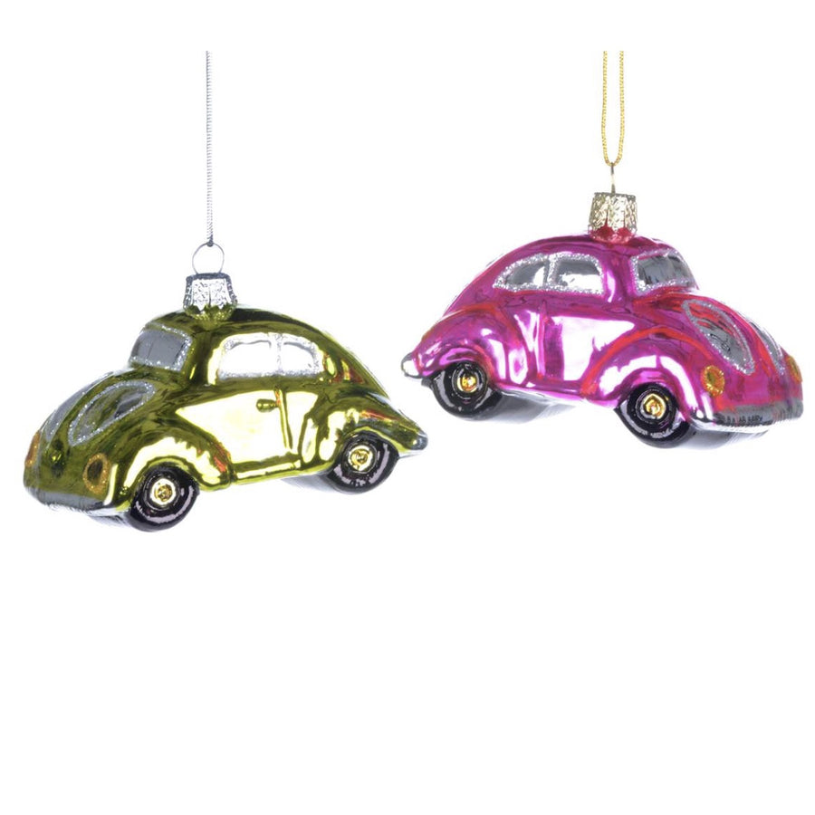 """Love Bug"" Glass Ornament, CT-Christmas Tradition, Putti Fine Furnishings"