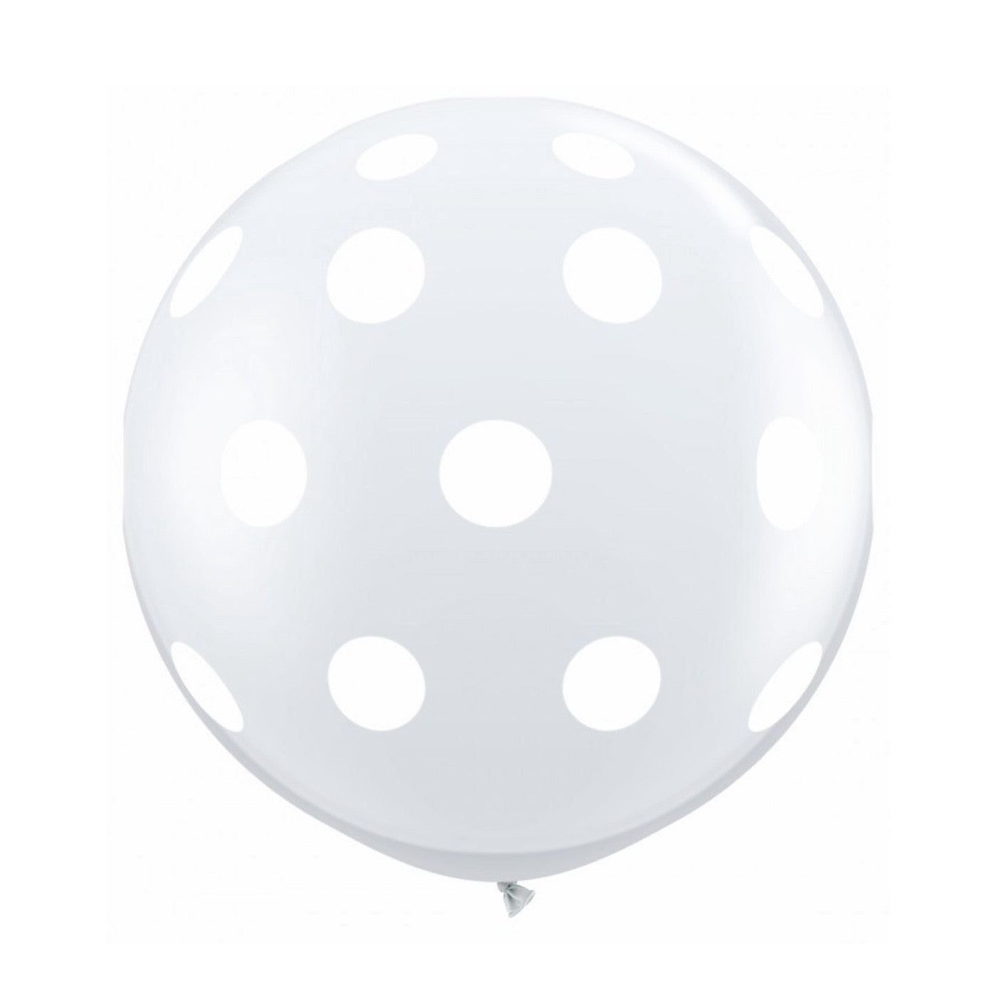 "Giant Round Balloon 36""- Diamond clear with White Dots, SE-Surprize Enterprize, Putti Fine Furnishings"