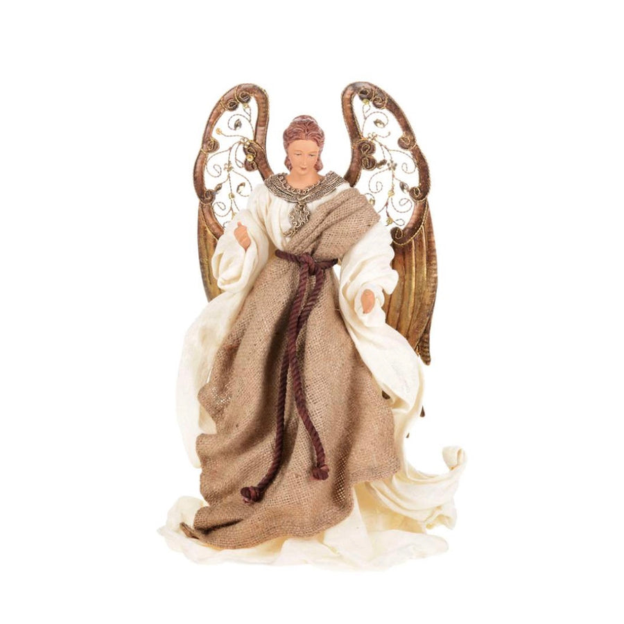 Ivory Angel with Linen Robe