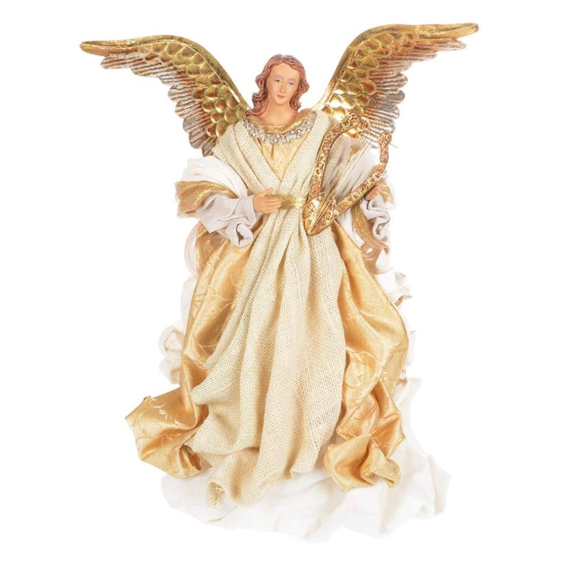 Large Ivory and Gold Angel-Christmas Decorations-CT-Christmas Tradition-Putti Fine Furnishings