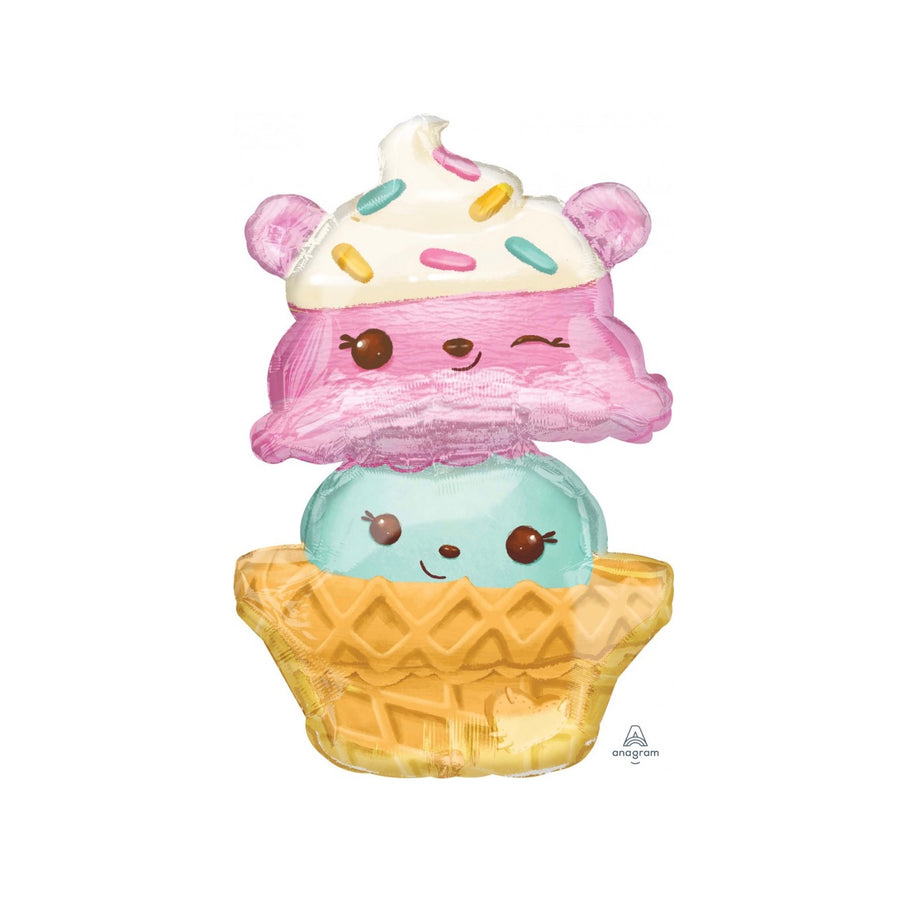"""Num Noms"" Ice Cream Mylar Balloon"