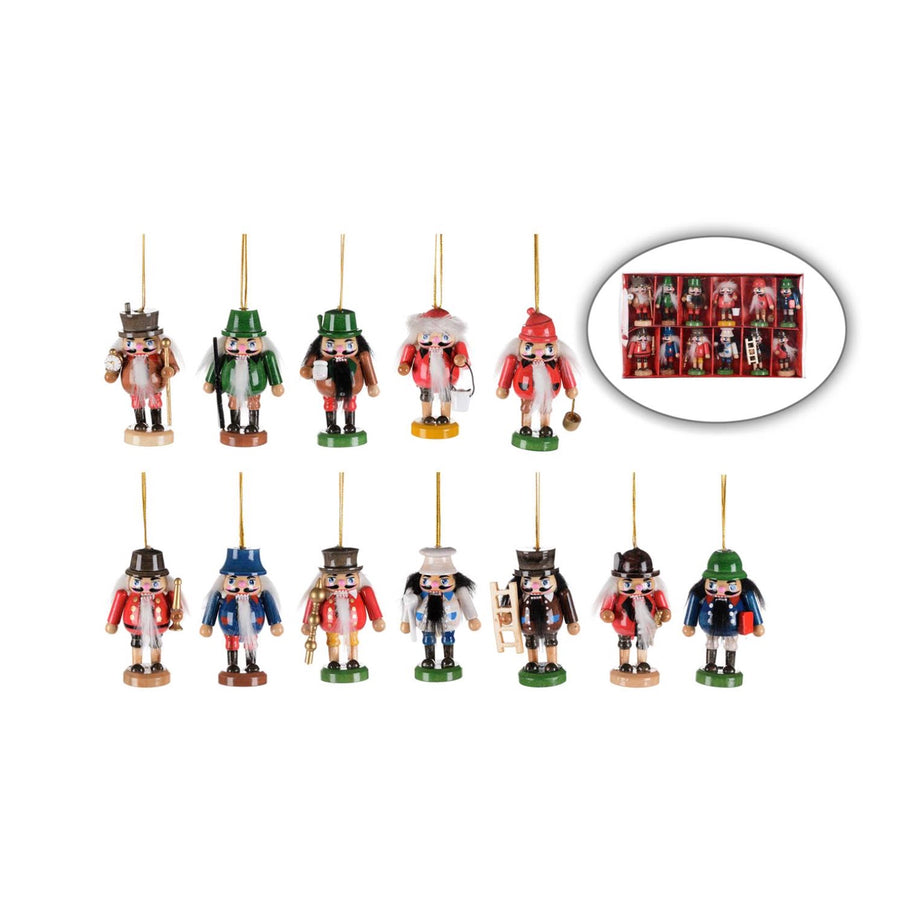 Miniature Nutcracker Ornaments - set of 12