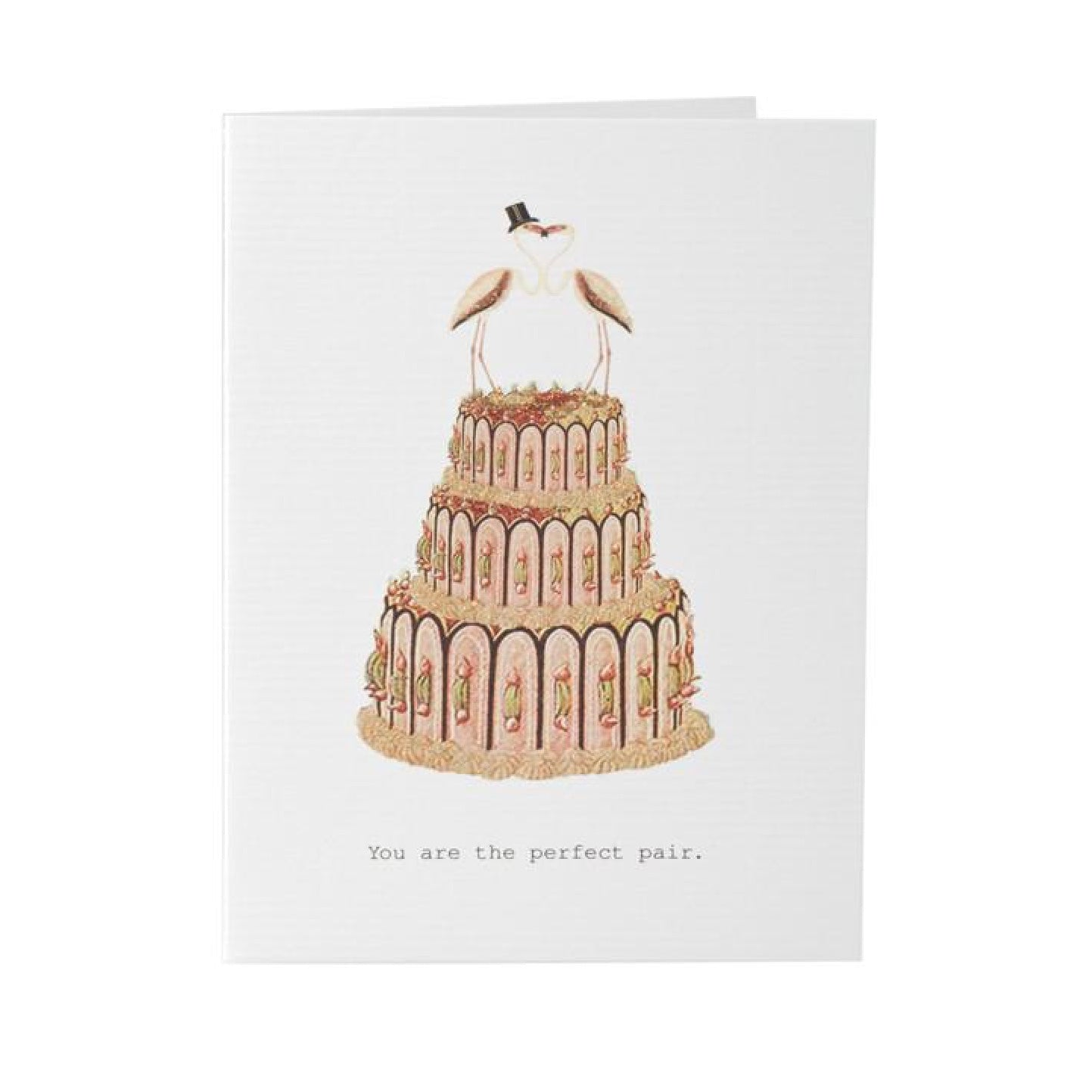 "Tokyo Milk ""You are the perfect pair"" Wedding Cake Card, TM-Tokyo Milk, Putti Fine Furnishings"