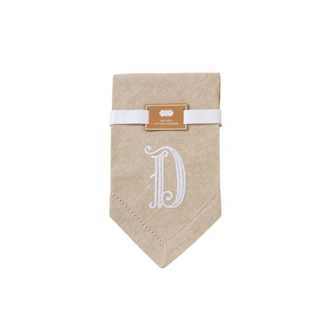 Monogrammed Napkin Set - Initial D, MP-Mud Pie, Putti Fine Furnishings