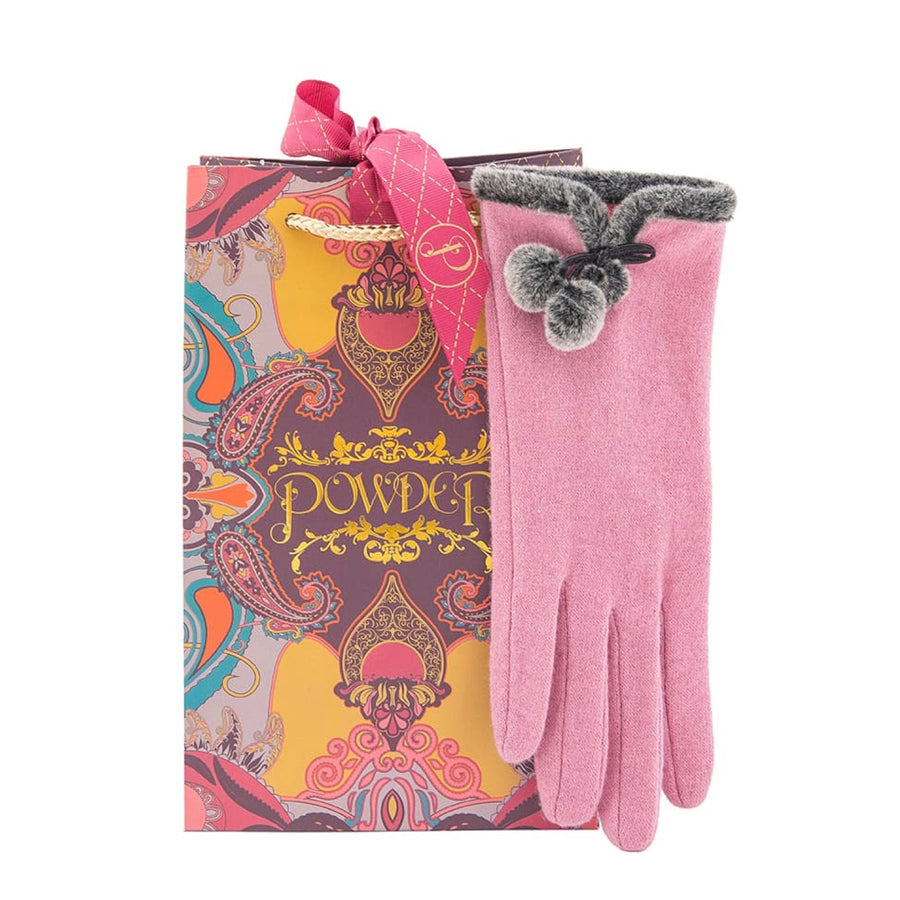 "Powder ""Betty"" Wool Gloves - Candy Pink"