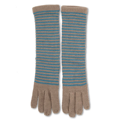 "Powder ""Hannah"" Long Wool Gloves - Teal Mix, PDL-Powder Design Limited, Putti Fine Furnishings"
