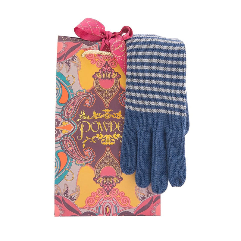 "Powder ""Hannah"" Long Wool Gloves - Navy Mix, PDL-Powder Design Limited, Putti Fine Furnishings"