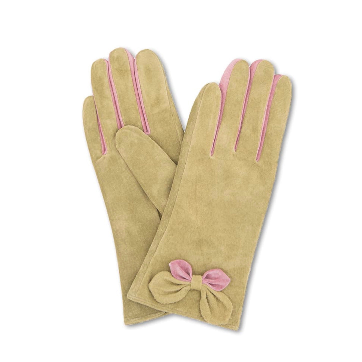 "Powder ""Antoinette"" Suede Gloves - Moss, PDL-Powder Design Limited, Putti Fine Furnishings"