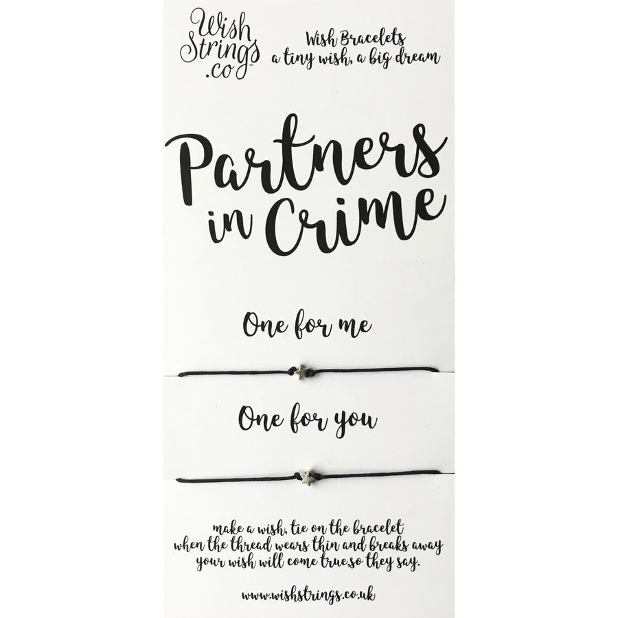 "Wish Strings ""Partners in Crime"" - Duo Bracelets"