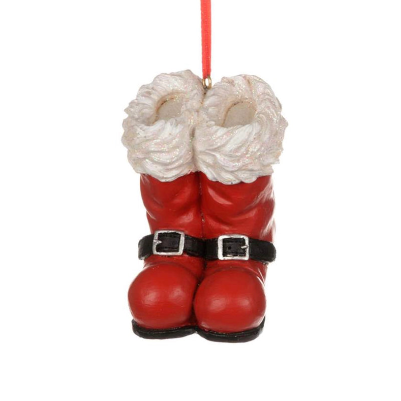 Red Santa Boots Ornament
