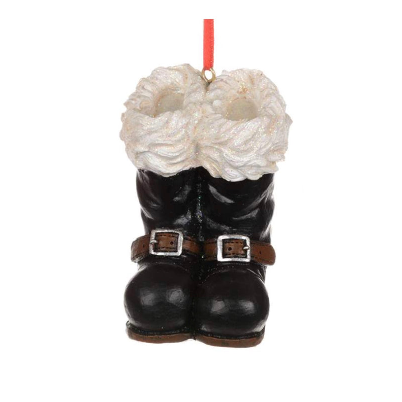 Black Santa Boots Ornament