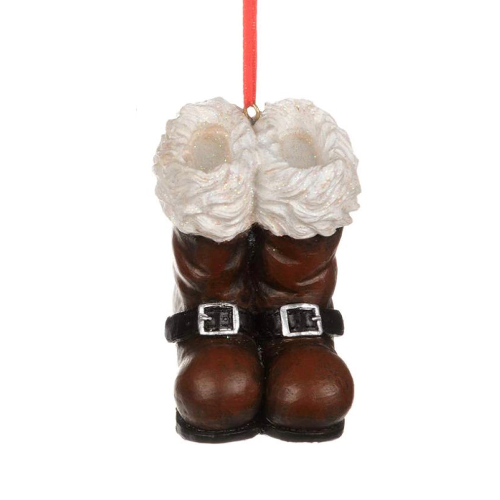 Brown Santa Boots Ornament, CT-Christmas Tradition, Putti Fine Furnishings