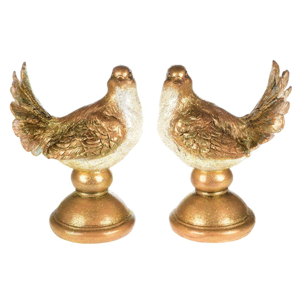 Pair of Gold Doves