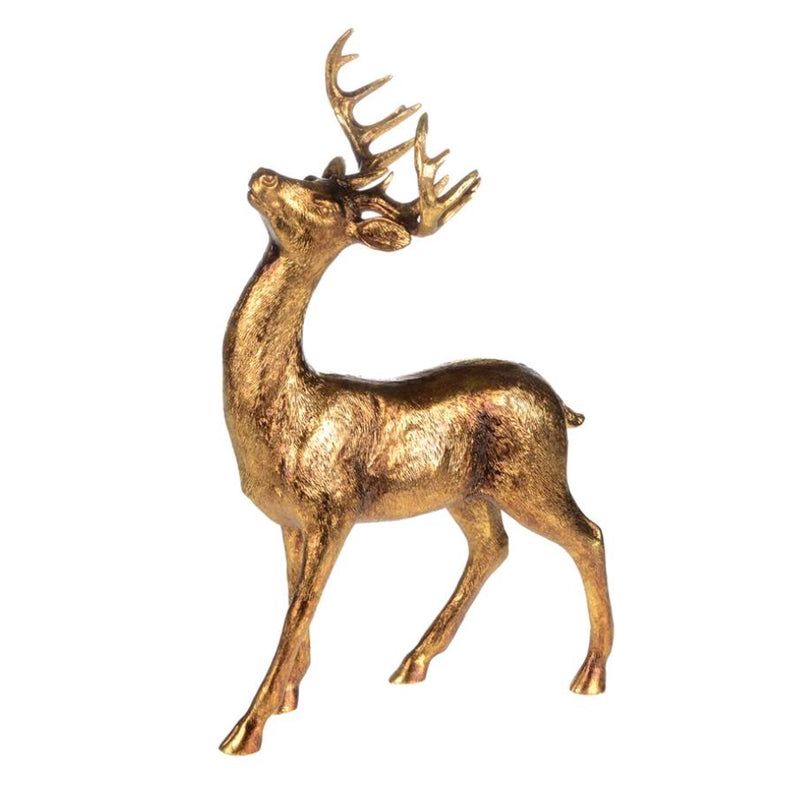Gilded Standing Deer, CT-Christmas Tradition, Putti Fine Furnishings