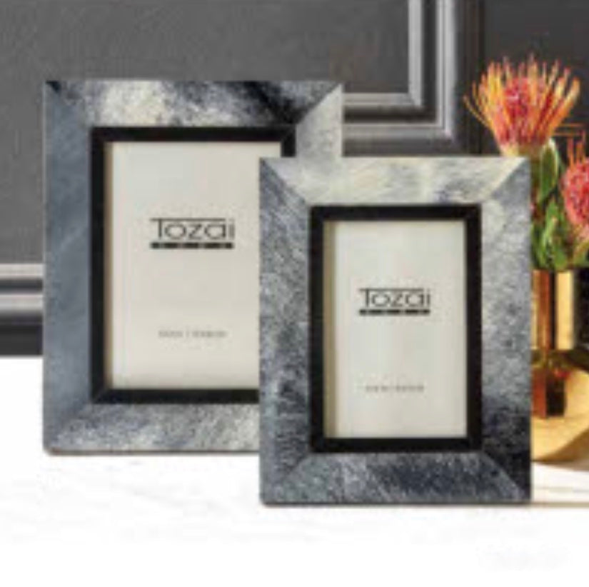 Tozai Grey Faux Bone Photo Frames