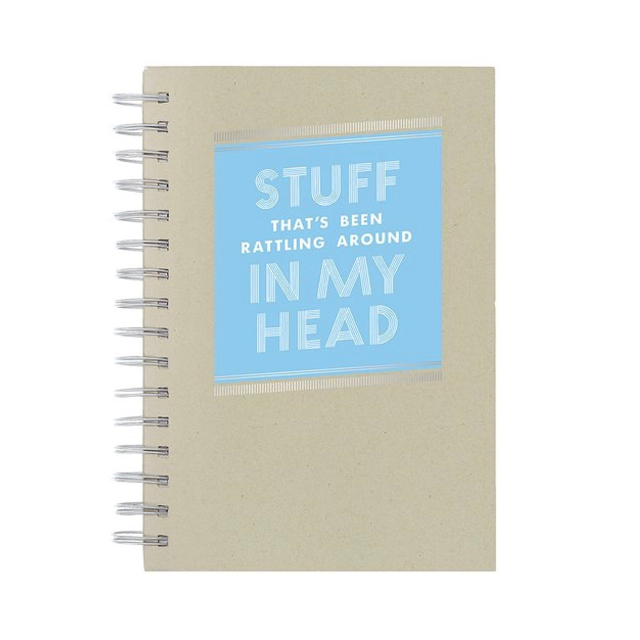 """Stuff... in my head"" Spiral Journal, CRG-CR Gibson, Putti Fine Furnishings"