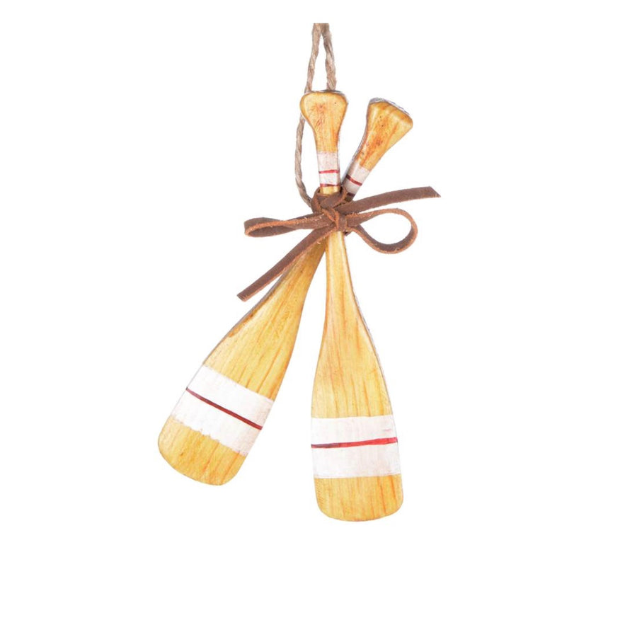 Double Crossed Paddle Ornament, CT-Christmas Tradition, Putti Fine Furnishings