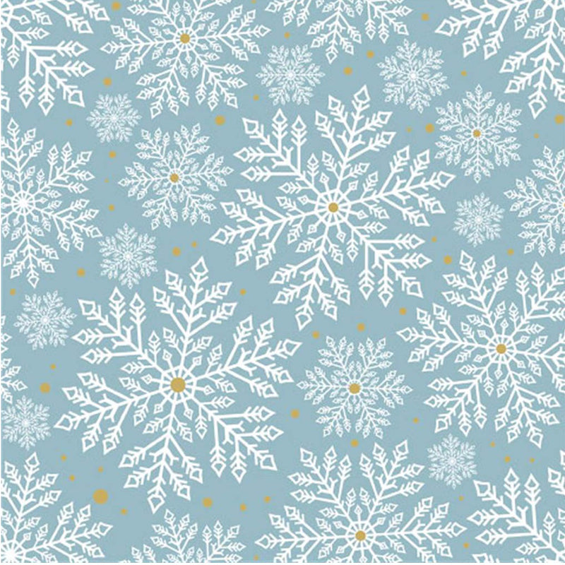 """Snowflakes"" Lunch Napkin - Aqua Blue, EG-Elegant Gifts, Putti Fine Furnishings"