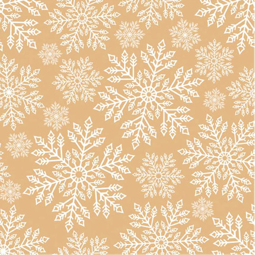 """Snowflakes"" Lunch Napkin - Gold"