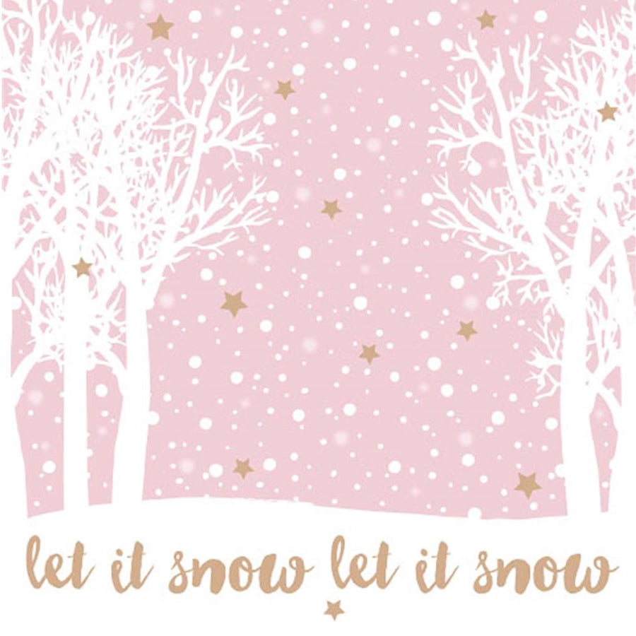 """Let it Snow"" Lunch Napkin - Pink, EG-Elegant Gifts, Putti Fine Furnishings"