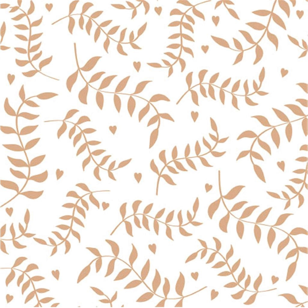 """Leaves"" Lunch Napkin - Gold"