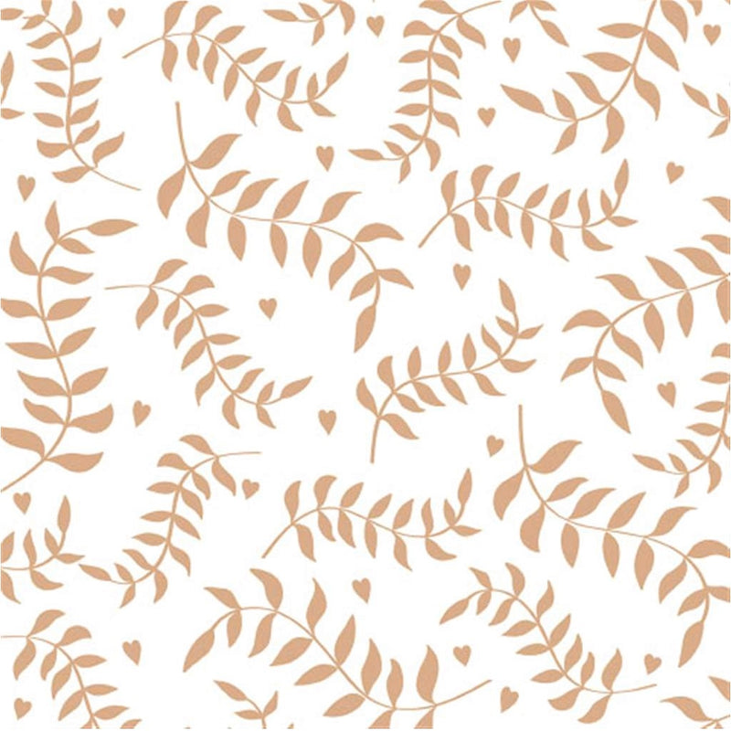 """Leaves"" Lunch Napkin - Gold, EG-Elegant Gifts, Putti Fine Furnishings"