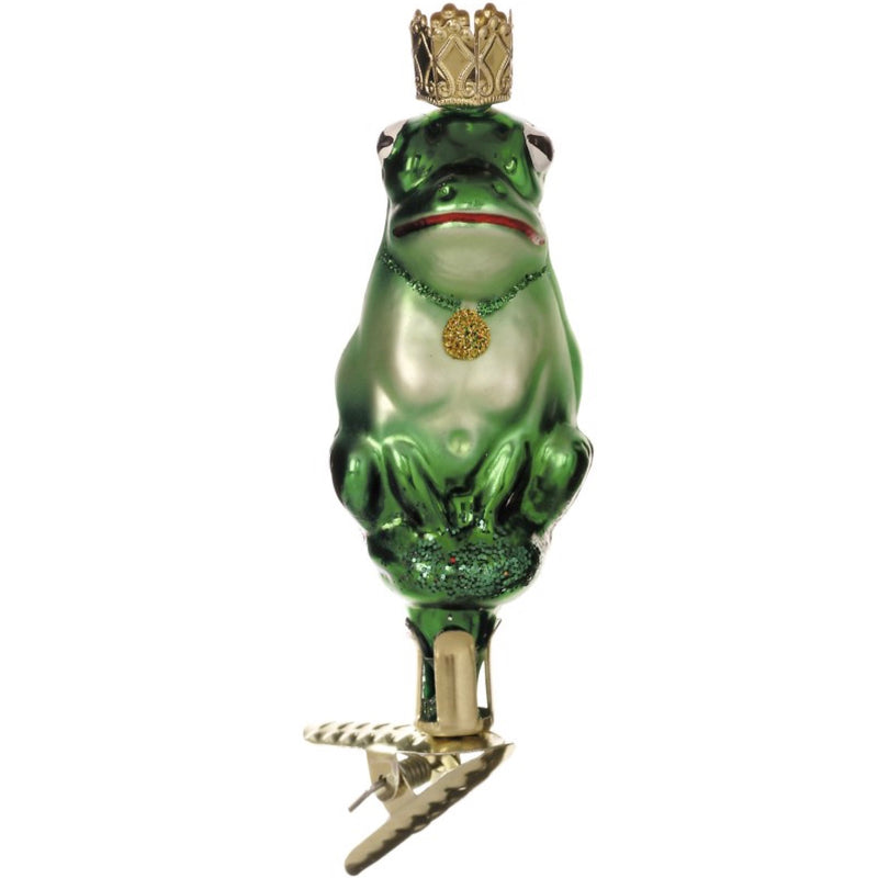 "Inge Glass ""Kiss the Toad"" Ornament, IG-Inge Glass - OCD, Putti Fine Furnishings"