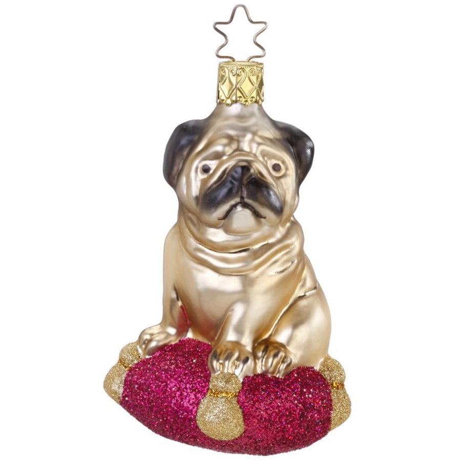 "Inge Glass ""Pugsie"" Ornament, IG-Inge Glass - OCD, Putti Fine Furnishings"