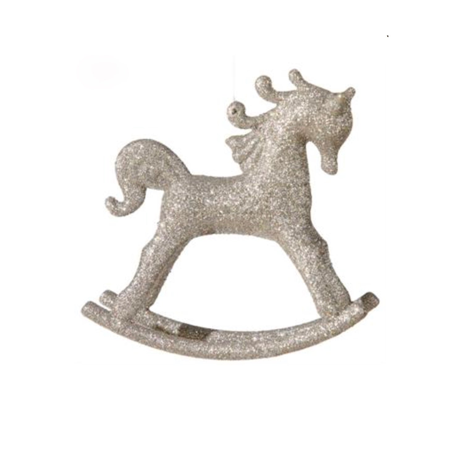 Silver Rocking Horse Ornament, FDI-Floridus Design Images, Putti Fine Furnishings